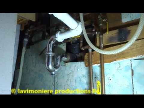 kitchen sink drain backing up  snake u0026 drain repair & kitchen sink drain backing up  snake u0026 drain repair - YouTube