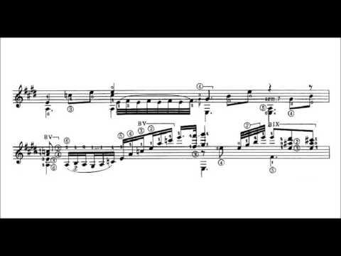 ChopinTarrega  Nocturne Op 9 No 2 for guitar solo audio + sheet music
