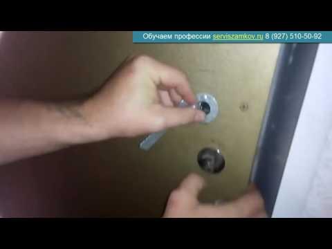 Как открыть реечный замок без ключа видео