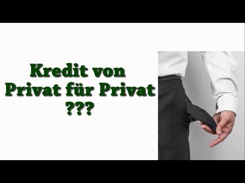 Was bedeutet Kredit von Privat für Privat? (Geld leihen online)