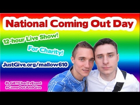 [LIVE] NATIONAL COMING OUT DAY CHARITY EVENT!