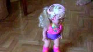 Roller skating baby doll