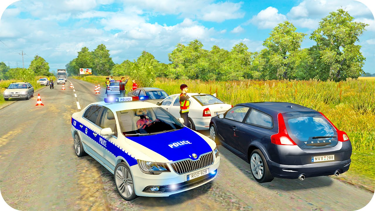 Skoda Police Driving Ets2 Euro Truck Simulator 2 Youtube