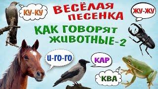 Как говорят животные-2! Веселая песенка для самых маленьких/How animals talk-2! Funny song for kids!
