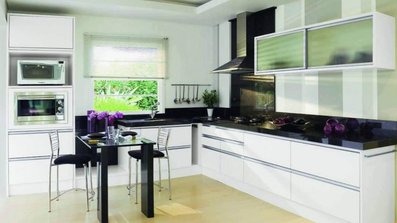 Small Kitchen Interior Design L Shape Youtube