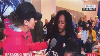Houston Woman Checks CNN Reporter For Putting Cameras In Flood Victim's Face