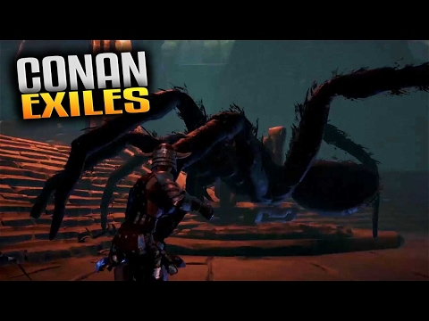 Conan Exiles Gameplay  Spider Boss Fight! Let's Play Conan Exiles