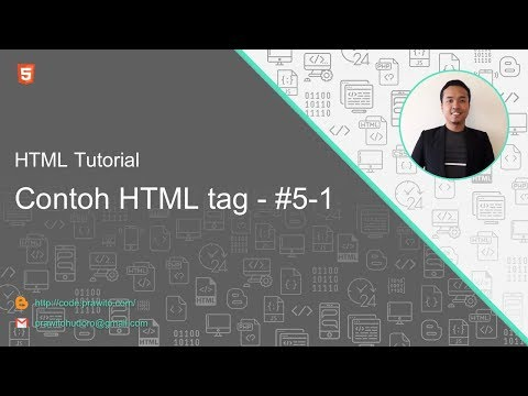 Contoh HTML Tag #5-1 HTML Tutorial [Indonesia]