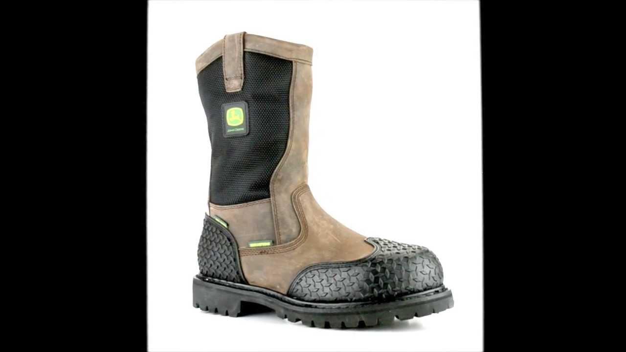 79c1dfae505 Men's John Deere JD9311 Steel Toe Waterproof & Insulated Metguard Miner  Wellington Work Boot