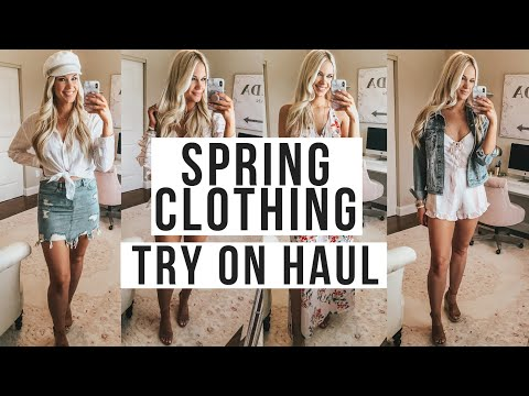 SPRING CLOTHING TRY ON HAUL 2018