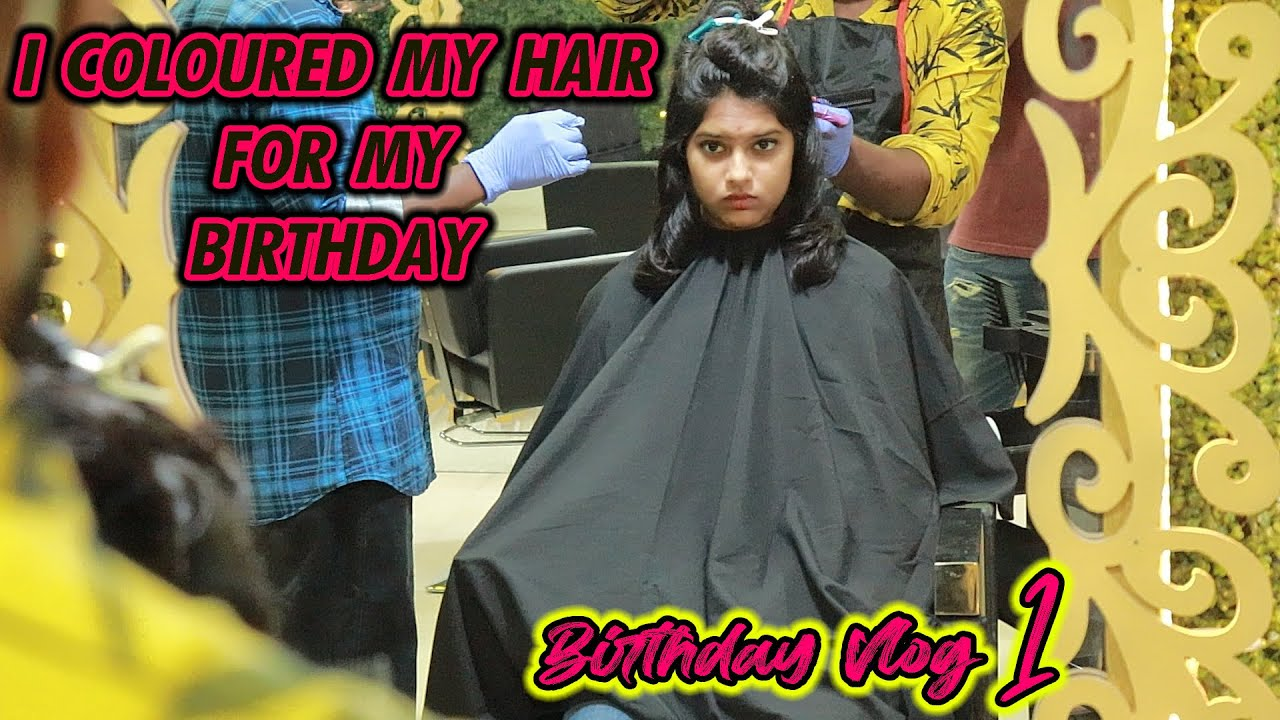 BIRTHDAY HAIR STYLE TRANSFORMATION||BIRTHDAY SERIES || VLOG 1||#Sneholic