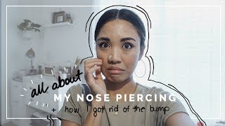 ALL ABOUT MY NOSE PIERCING + Nose Piercing Bump Removal | beautybitten