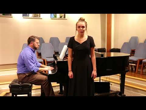 """Hayes School of Music Audition """"I Know That My Redeemer Liveth""""- Jenna Larcara"""