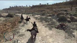 Red Dead Redemption Bounty Capture Gameplay XBox 360 in HD