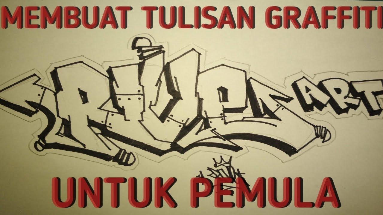 Cara menggambar graffiti untuk pemula graffiti nama di kertas rive art