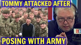 TOMMY Robinson ATTACKED For Posing with ARMY Cadets - LBC