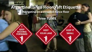 Tango Floorcraft - Three guidelines