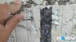 Демонтуємо Мокрий Фасад на будинку з незнімної пінопластової опалубці, ремонт фасаду косячного