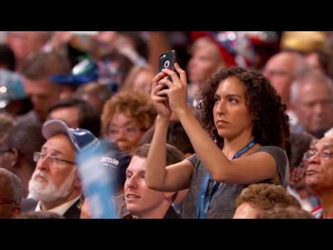 Actresses America Fererra and Lena Dunham at DNC 2016