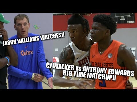 Anthony Edwards vs CJ Walker BIGTIME MATCHUP!! Jason Williams Watches!! E1T1 vs ATL Express