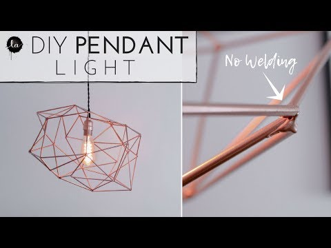 DIY Light Fixture | NO WELDING | Geometric Himmeli Light | Copper Decor