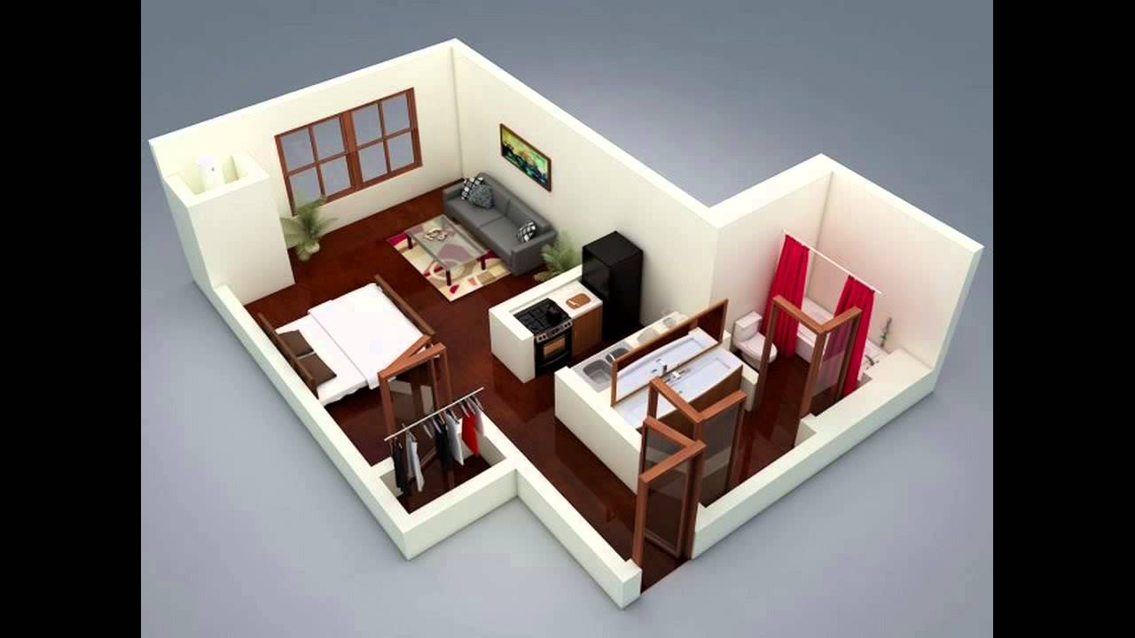 very small apartment layout.  A Super Small Apartment Design With Floor Plan YouTube