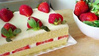 Japanese Strawberry Shortcake (草莓奶油蛋糕; Strawberry Cream Cake) **