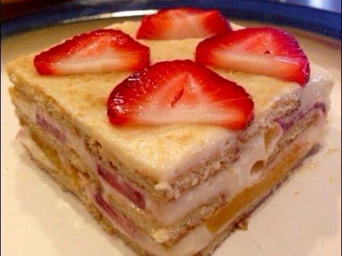 Pie de limon con fresas y durazno nina tips mty youtube - Postres con queso de untar ...