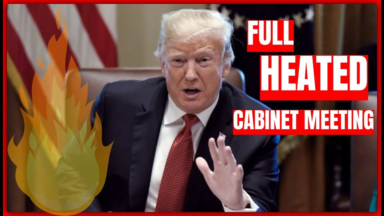 GST TRUMP ON FIRE: President Trump FULL Cabinet Meeting at the White House