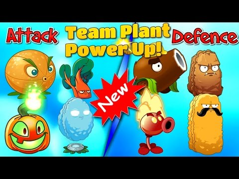 Defence and Attack Plants vs Zombies 2 - Team Plant Power Up Part 1