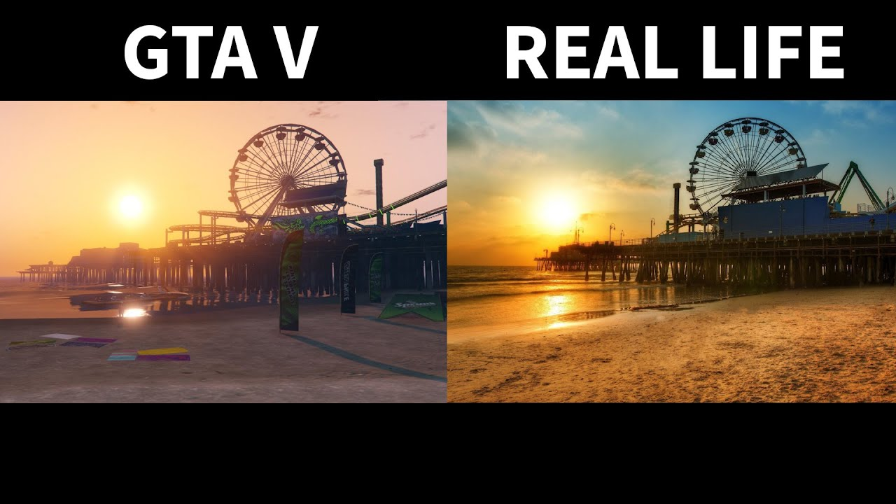 GTA V Vs Real Life Side By Side Part 2 YouTube