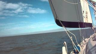 Sailing Galveston Bay January 2014