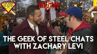 The Geek Of Steel chats with Zachary Levi. #SHAZAM