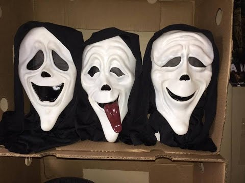 scary movie spoof mask set youtube
