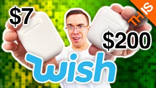 Trying $7 AirPods from WISH