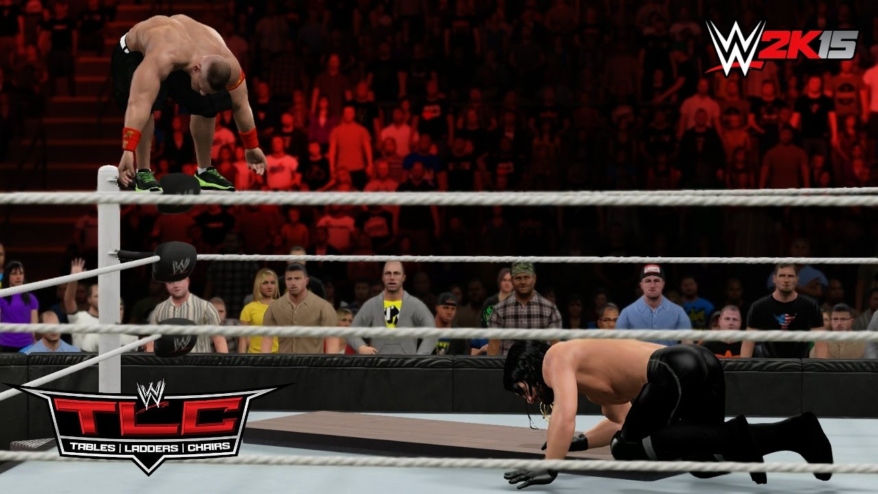 WWE 2K15 TLC 2014: John Cena vs Seth Rollins - Table Match ...