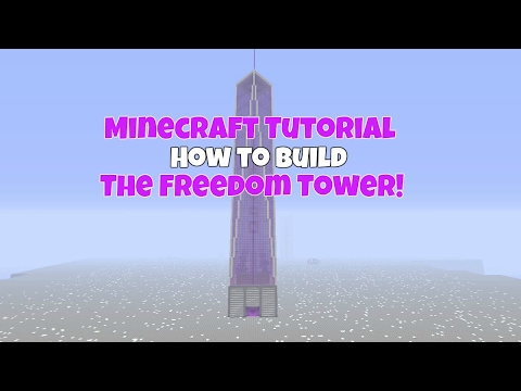 Minecraft Tutorial: How To Build The Freedom Tower!