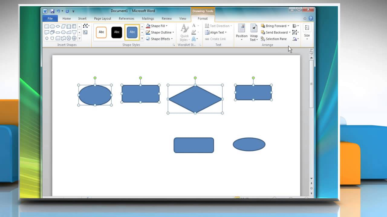 how to create a flow chart in microsoft® word 2010 - youtube, Powerpoint templates