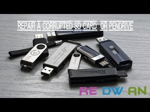 [How to]Repair a Corrupted Flash Drive | pendrive |SD card using CMD (Command Prompt)
