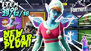 Fortnite Item Shop *NEW* SUGARPLUM SKIN GAMEPLAY! [December 29th, 2018] (Fortnite Battle Royale)