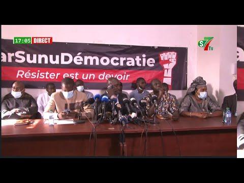 🛑OUSMANE SONKO EN GARDE A VUE: l'opposition face a la presse