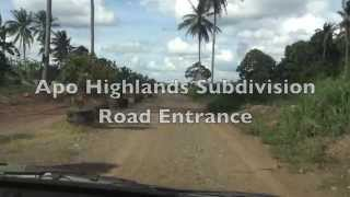 Apo Highlands Catalunan Grande Davao Subdivision Site Development Update