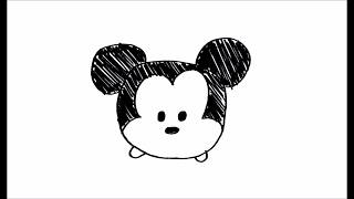 simple drawing mickey mouse drawings easy disney draw tsum paintingvalley tutorial