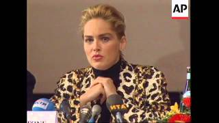 RUSSIA: SHARON STONE LAUNCHES RUSSIAN