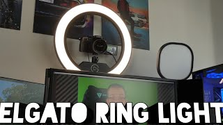 Elgato Ring Light unboxing and setup - beautiful, controllable lighting?