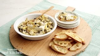 Baked Lemon And Feta Artichoke Dip - From The Test Kitchen