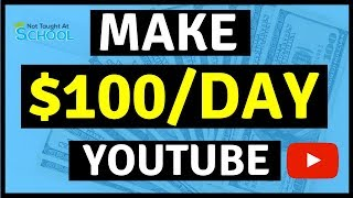Make $100 Per Day On YouTube Without Making Any Videos -Make Money Online