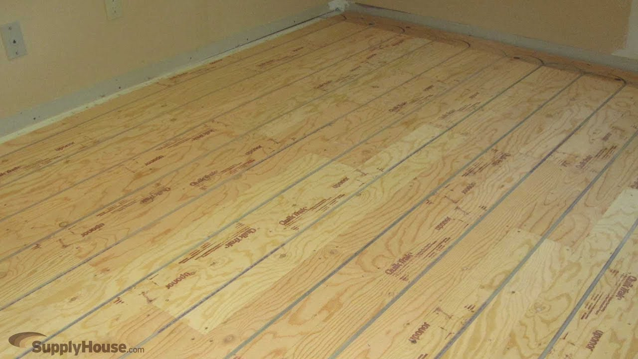 Quik Trak Radiant Heat Panels Youtube