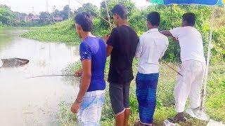 Cast Hooks Fishing | Friends Circle Enjoy Fishing | Live Fishing In The Village