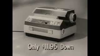 VINTAGE 1950s ANSCO COMMERCIAL - ANSCOMATIC SLIDE PROJECTOR